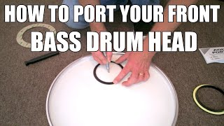 How to Port A Bass Drum Head And Make Your Questlove Breakbeats Kick Drum Club Ready