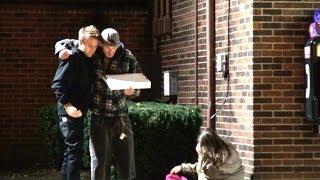 Homeless Pizza Party Prank!!
