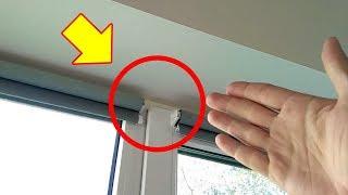 Как повесить рулонные шторы на пластиковые окна со сверлением