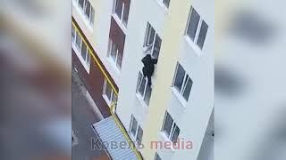 В Волынской области мужчина выпрыгнул из окна четвертого этажа и убежал (видео)