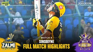 WATCH: The full highlights of the match between Peshawar Zalmi and Quetta Gladiators in Karachi   #HBLPSLV #TayyarHain #CricketForAll #WakeUpToFreshness #SensodyneHerbal #Sensodyne