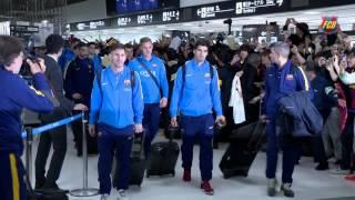 FC Barcelona arrival in Japan