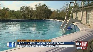 Pool installation gone wrong