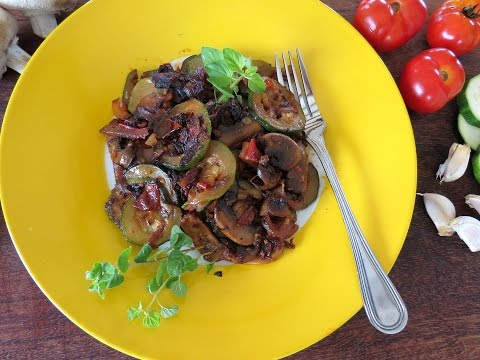 Video Sauteed Zucchini with Mushrooms -- The Frugal Chef