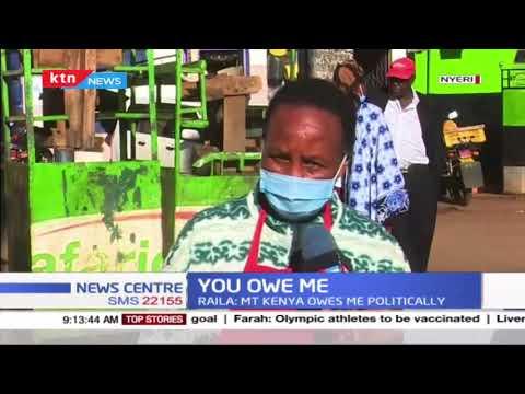 'We owe you nothing.' Section of Nyeri residents tell Raila Odinga