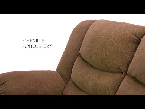 Tulen 9860586 Chocolate Reclining Loveseat