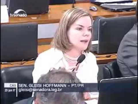 Contra reforma trabalhista, Gleisi Hoffmann confronta Marta Suplicy