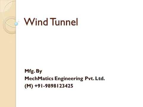 Open Jet Wind Tunnel