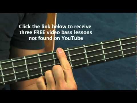 beginner bass guitar lesson I miss you Blink 182