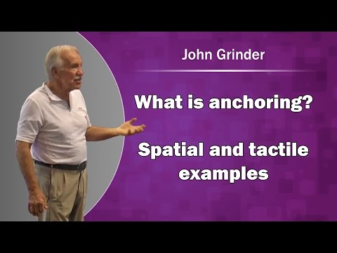 John Grinder NLP - What is anchoring? Spatial and tactile examples