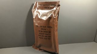 Eating 33 Year Old US MRE 1984 Ham & Chicken Loaf Vintage MRE Review Meal Ready to Eat Taste Test