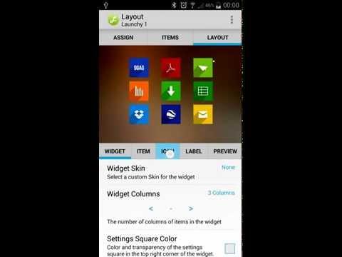 Video of Launchy Widget