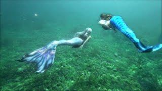 FANTASY MERMAIDS    Mermaid Sisters Swim In The Magical Waters Of Lake Michigan    Underwater Video