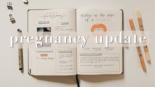 14 WEEK PREGNANCY UPDATE IN MY BULLET JOURNAL | Sunrise Notes Bullet Journal