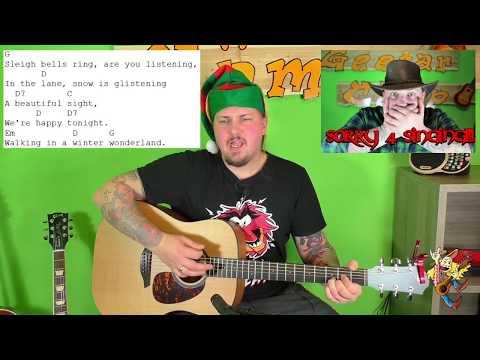 Gitarre lernen – Winter wonderland – Weihnachtslieder für Anfänger und Kinder