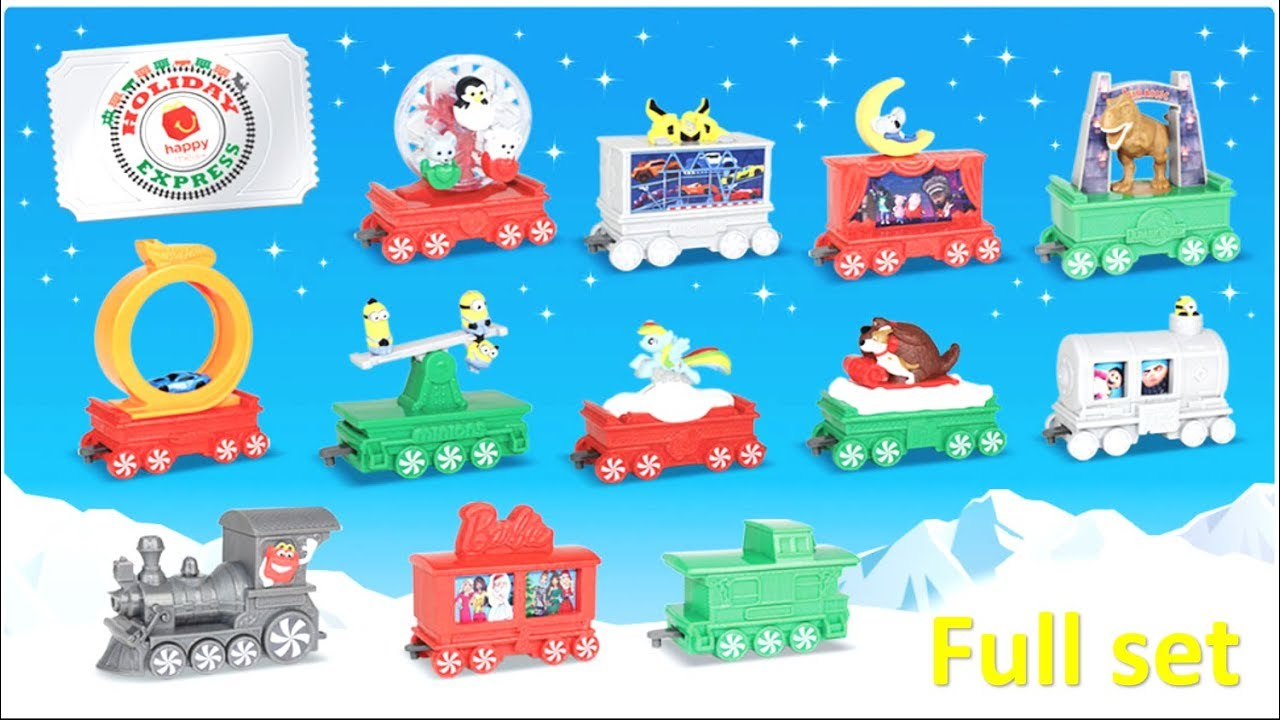 New McDonalds Happy Meal Toys - 2017 Holiday Express Train Full Set