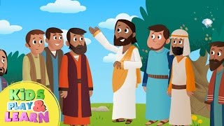 Jesus Returns To Heaven   The Ascension   Animated Simple Bible Stories