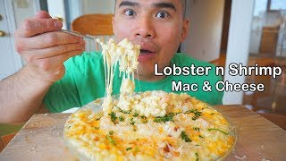 How to make Lobster & Shrimp CHEESY MAC & CHEESE