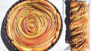 Deux gâteaux à la rhubarbe