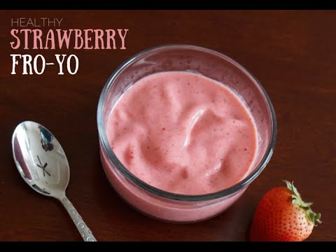 Video How to make Strawberry Homemade Frozen Yogurt (Super Healthy)