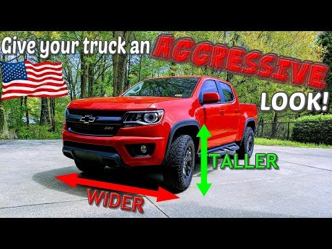 """1.5"""" wheel spacers and 1"""" leveling kit install on my Chevy Colorado Z71! WOW! 😮"""
