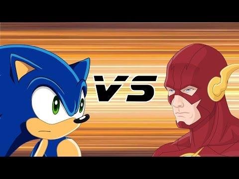 SONIC VS FLASH [THE RAP BATTLE] - Cartoon Hook-Ups