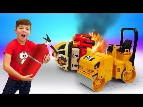 Классные игрушки для мальчиков. Машины помощники выручают робокары Новое видео детям.
