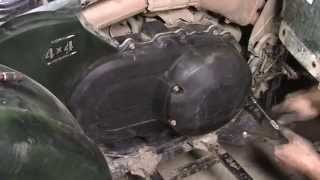 How to do CVT Maintenance / Belt Slip Repair on 2006 Yamaha Grizzly 660