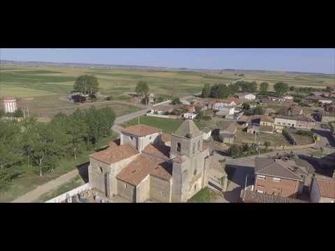 Arenillas de Riopisuerga (Burgos) desde el aire. DJI Phantom. Dron