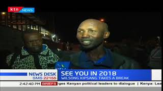 Kenyan Marathon star, Wilson Kipsang takes a break