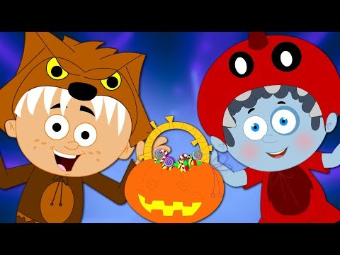 Knock Knock Trick Or Treat Halloween Songs | Scary Nursery Rhymes For Children