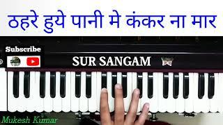 Thehre Hue Pani Mein Kankar Na Maar Sanwri | Harmonium Music | Sur Sangam HD | Kumar Sanu