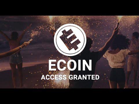 ECOIN Airdrop !!! Получите 750 Ecoin -15$ !!! Уже на бирже!!!