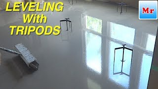 How To Leveling Plywood Subfloor With Screed Tripods MrYoucandoityourself