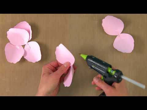 Step-By-Step Large Paper Rose DIY From David Tutera Collection | Sizzix