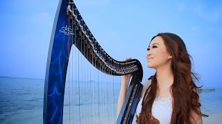 Laskar Pelangi (Vocal and Harp Cover) By Angela July [HD]