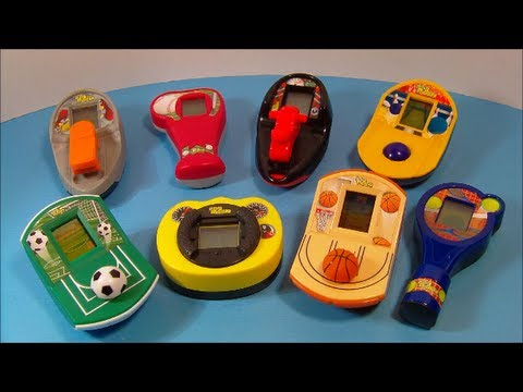 2008 McDONALD'S DIGI SPORTZ SET OF 8 MINI HAND HELD VIDEO GAMES TOY REVIEW