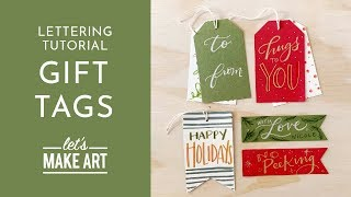 Personalized Gift Tags - Lettering Tutorial with Nicole Miyuki