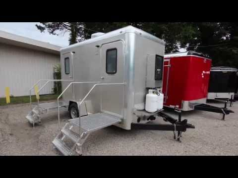 Shower Trailer | 2 Stall Combo Portable Restrooms / Shower Trailer Comfort Series