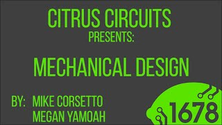 2015 Fall Workshops - Mechanical Design