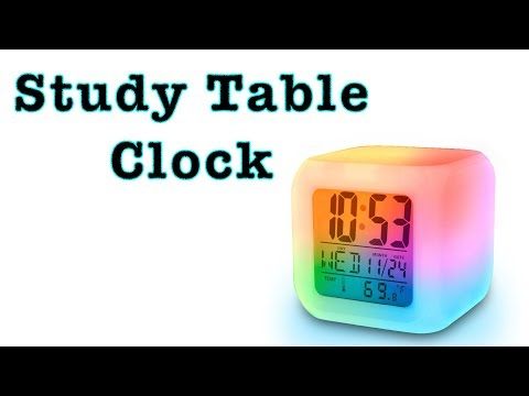 Digital Clock For Student Study Table | Best LED Glowing Clock