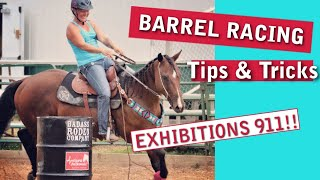 BARREL RACING TIPS  |  What Should I Do During Exhibitions?! Fixing Common Problems With Your Horse!