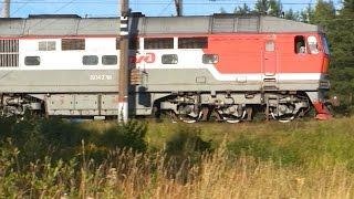 ТЭП70-0278 с поездом Санкт-Петербург — Харьков / Киев