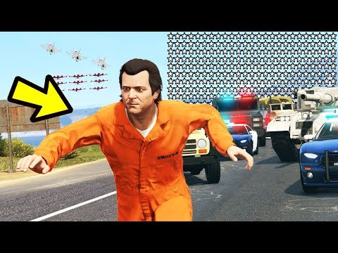GTA 5 - 500 STAR WANTED LEVEL!! (Can We Escape?)