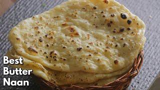 #BUTTERNAAN | Restaurant Style Butter Naan On Tawa | తెలుగు లో | బటర్ నాన్ పెనం మీద
