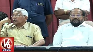 Prof.Kodandaram And R. Krishnaih Supports SI Candidates Protest against RFID System   V6 News