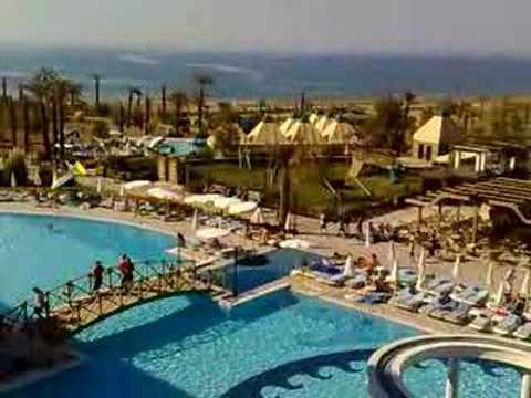 Video uitzicht vanuit hotel Aspendos Beach***** (Side / Titreyengol / Colakli / Sorgun, Turkije)
