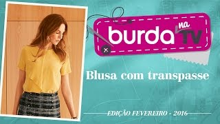 burda na TV 78 – Blusa com transpasse