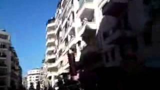 preview picture of video 'Siria, Latakia, Manifestación para derrocar el regimen de Bashar al Asad, 25/03/2011'