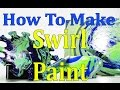 DIY How To Make A HomeMade Swirl PaintWater Painting
